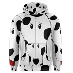 Dalmation cartoon head Men s Zipper Hoodie