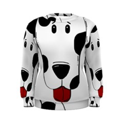 Dalmation cartoon head Women s Sweatshirt