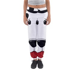Dalmation cartoon head Women s Jogger Sweatpants