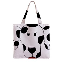 Dalmation cartoon head Zipper Grocery Tote Bag