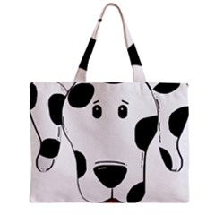 Dalmation cartoon head Zipper Mini Tote Bag