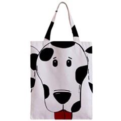 Dalmation cartoon head Zipper Classic Tote Bag