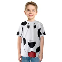 Dalmation cartoon head Kids  Sport Mesh Tee