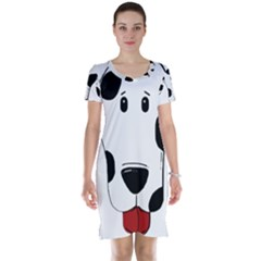 Dalmation cartoon head Short Sleeve Nightdress