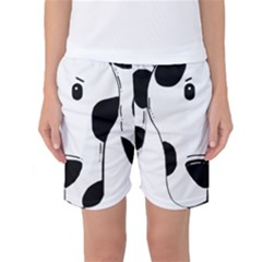 Dalmation cartoon head Women s Basketball Shorts