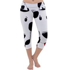 Dalmation cartoon head Capri Yoga Leggings