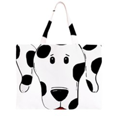 Dalmation cartoon head Large Tote Bag