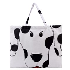 Dalmation cartoon head Zipper Large Tote Bag