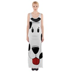 Dalmation cartoon head Maxi Thigh Split Dress