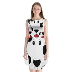 Dalmation cartoon head Sleeveless Chiffon Dress