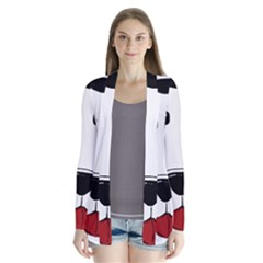 Dalmation cartoon head Drape Collar Cardigan