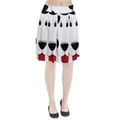 Dalmation cartoon head Pleated Skirt