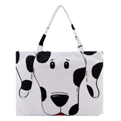 Dalmation cartoon head Medium Tote Bag