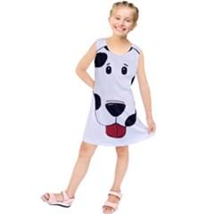 Dalmation cartoon head Kids  Tunic Dress
