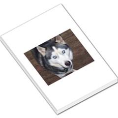 Siberian Husky Blue Eyed Large Memo Pads