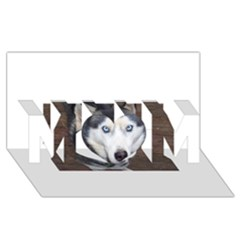 Siberian Husky Blue Eyed MOM 3D Greeting Card (8x4)