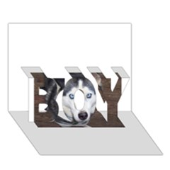 Siberian Husky Blue Eyed BOY 3D Greeting Card (7x5)
