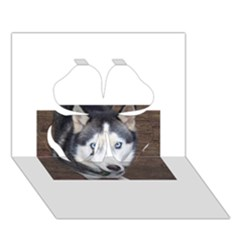 Siberian Husky Blue Eyed Clover 3D Greeting Card (7x5)