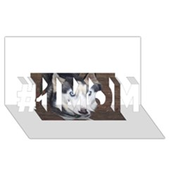 Siberian Husky Blue Eyed #1 MOM 3D Greeting Cards (8x4)