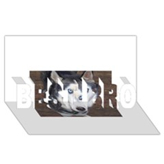 Siberian Husky Blue Eyed BEST BRO 3D Greeting Card (8x4)