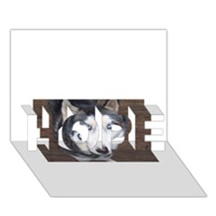 Siberian Husky Blue Eyed HOPE 3D Greeting Card (7x5)