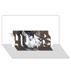 Siberian Husky Blue Eyed HUGS 3D Greeting Card (8x4)