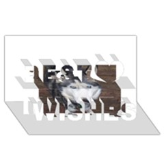 Siberian Husky Blue Eyed Best Wish 3D Greeting Card (8x4)