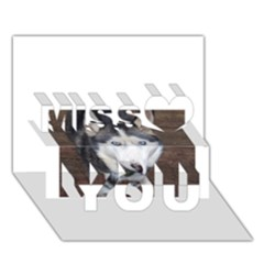 Siberian Husky Blue Eyed Miss You 3D Greeting Card (7x5)