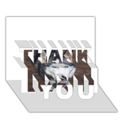 Siberian Husky Blue Eyed THANK YOU 3D Greeting Card (7x5)