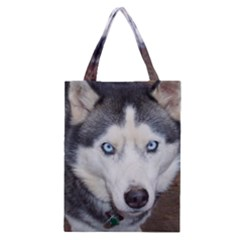 Siberian Husky Blue Eyed Classic Tote Bag
