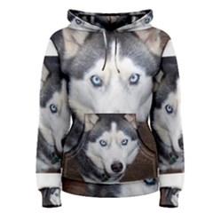 Siberian Husky Blue Eyed Women s Pullover Hoodie
