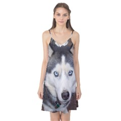 Siberian Husky Blue Eyed Camis Nightgown