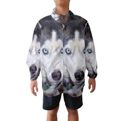 Siberian Husky Blue Eyed Wind Breaker (Kids)