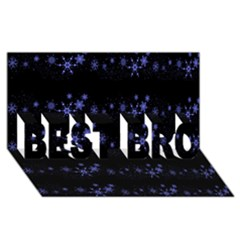 Xmas elegant blue snowflakes BEST BRO 3D Greeting Card (8x4)