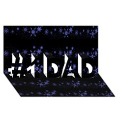 Xmas elegant blue snowflakes #1 DAD 3D Greeting Card (8x4)