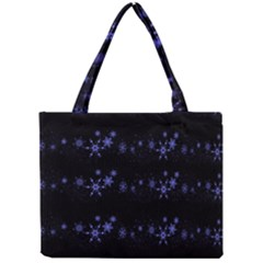 Xmas elegant blue snowflakes Mini Tote Bag