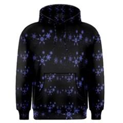 Xmas elegant blue snowflakes Men s Pullover Hoodie