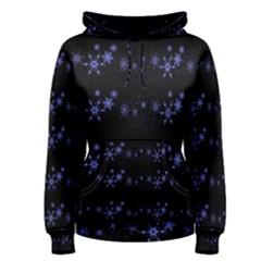 Xmas elegant blue snowflakes Women s Pullover Hoodie