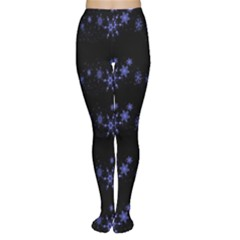 Xmas elegant blue snowflakes Women s Tights