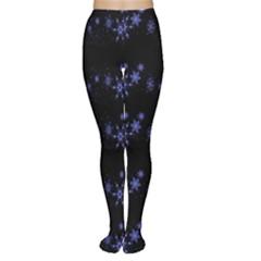 Xmas elegant blue snowflakes Women s Tights