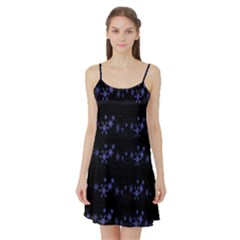 Xmas elegant blue snowflakes Satin Night Slip