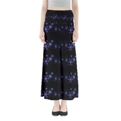 Xmas elegant blue snowflakes Maxi Skirts