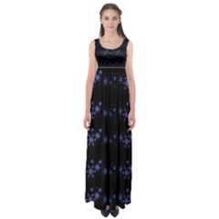 Xmas elegant blue snowflakes Empire Waist Maxi Dress