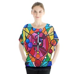 Arcturian Divine Order Grid - Batwing Chiffon Blouse