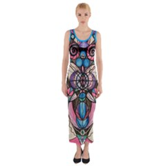 Arcturian Healing Lattice   Fitted Maxi Dress