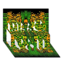 Magical Forest Of Freedom And Hope Miss You 3d Greeting Card (7x5)