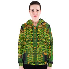 Magical Forest Of Freedom And Hope Women s Zipper Hoodie