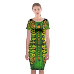 Magical Forest Of Freedom And Hope Classic Short Sleeve Midi Dress