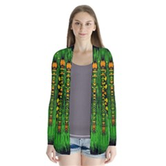 Magical Forest Of Freedom And Hope Drape Collar Cardigan