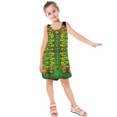 Magical Forest Of Freedom And Hope Kids  Sleeveless Dress